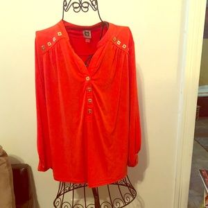 Anne Klein Long Sleeved Womans Top